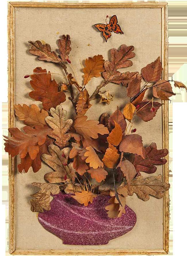 Осеннее панно из ткани